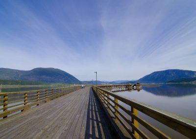 Walking the wharf 1, Salmon Arm, Shuswap, spring, activities, Darren Robinson